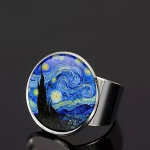 Coming Soon! Starry Night Cabochon Ring Silver Van
